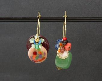 Pallet - Asymmetrical vintage Stud Earrings