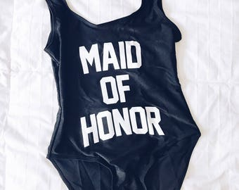 Maid of Honor Swimsuit   Maid of Honor Bathing Suit   Bride Squad