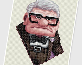 PDF Cross Stitch pattern - 0075.Carl (Up) - INSTANT DOWNLOAD