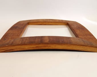 8x8 Curved Wine Barrel Stave Picture Frame