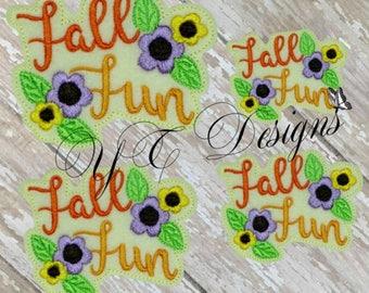 Fall Fun Feltie Embroidery File