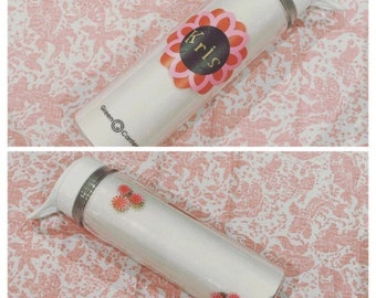 Personalized Glitter Water Bottles