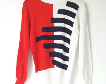 1970s Patterned Graphic Jumper