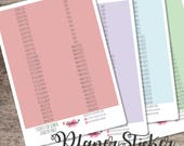 Sticker for your annual planner-letters Rainbow