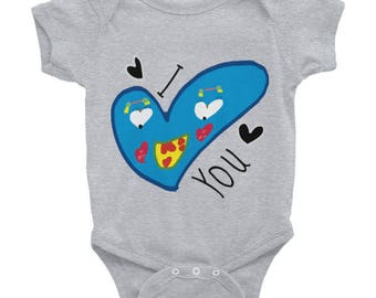 I Heartface You Baby Onesie