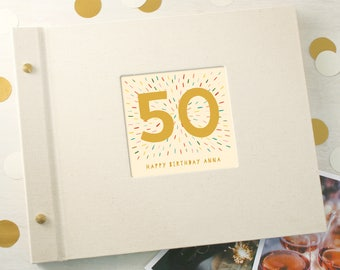 Personalised 50th Birthday Photo Album