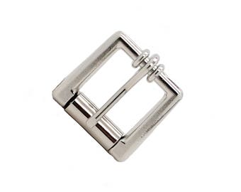 """Square Roller Buckle Nickel Plated 1/2"""" 2102-02"""