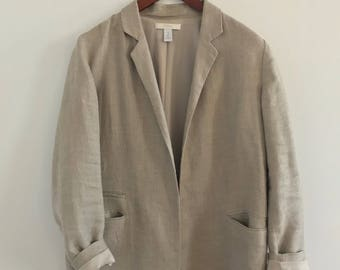 90s Chicos tan linen blazer