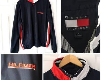 90s Tommy Hilfiger Windbreaker Jacket Large