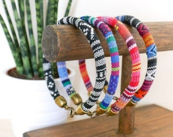 Baja Bangle Set; travel, wanderlust, gift her him, summer, tribal, aztec, green, festival, bracelet, surf, friendship, jewellery, jewelry
