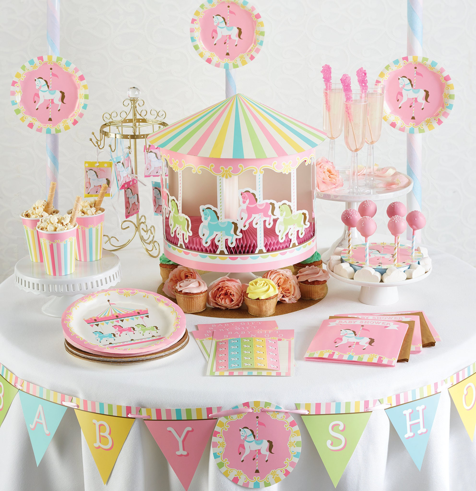 My Carousel Party Centerpiece Party