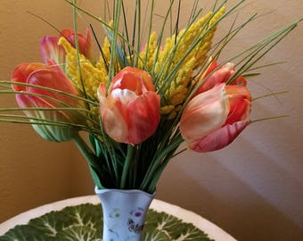 Tulips in Orange and Yellow