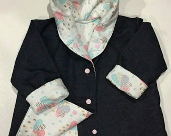 Denim Winter Jacket - You choose the fabric!