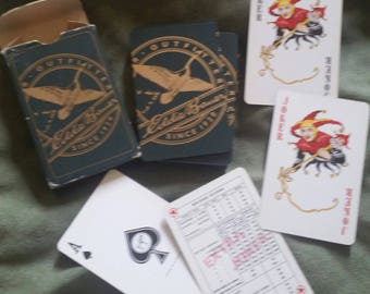 vintage deck of playing cards EDDIE BAUER