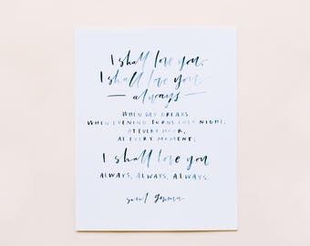 Saint Gemma Quote 8x10 Print