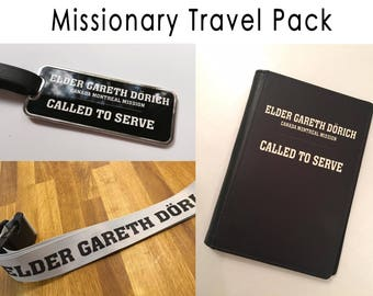 Missionary Travel Pack (Personalised) - MTC, Mission, LDS, Mormon