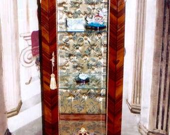 Baroque glass Cabinet antique Rococo style wardrobe Louis XV MoVi0920