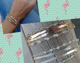 Double bar bracelets