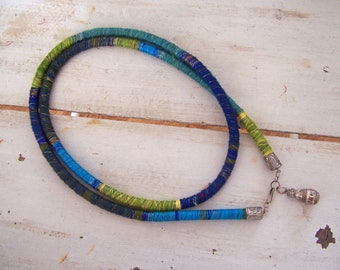 Beautiful winding cord as a necklace, can be worn in different ways