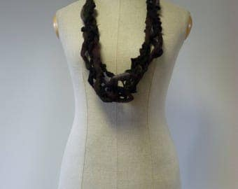 Special price. Artsy handmade wool necklace, perfect for gift.