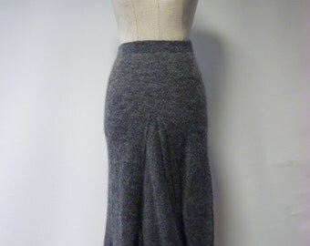 The hot price, boho grey mohair long skirt, M size.  Only one sample.