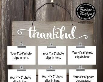 thankful, thankful sign, thankful decor, thankful wall decor, thankful art, thankful photo holder, thankful decoration