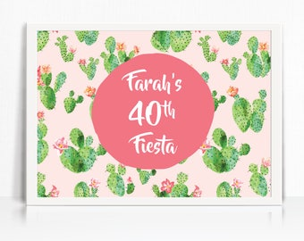 Cactus / Fiesta Backdrop - Printable