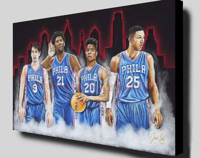 "Philadelphia 76ers ""PROCESS"" Canvas Art Print"