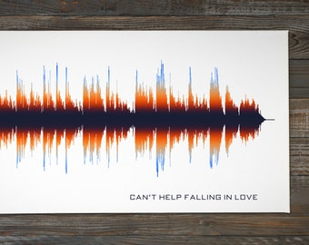 Wedding Song Sound Wave Art Gift / Personalized Gift for Fiance, Husband, Men, Wife, Women, Couple / Custom Wedding Prints, Bridal Present