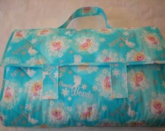 Nap Mat - Elsa from Frozen Nap Mat with Attached Pillow and Blanket - Toddler - Child Sleep Quilt - Preschool - Take Along Mat