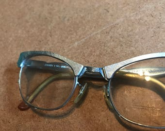1950's metal cateye glasses - vintage pinup metal cateye frames