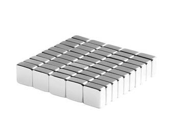 1/4 x 1/4 x 1/8 Inch (6.35 x 6.35 x 3.17 mm) Neodymium Rare Earth Block Magnets N48 (50 Pack)