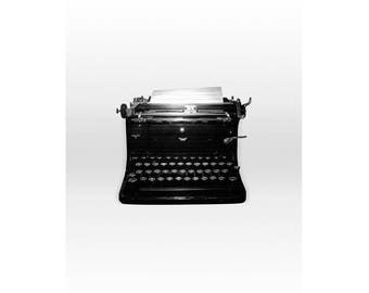 Black and White Typewriter Photography, Black and White Prints, Black and White Photography, Black and White Wall Decor