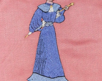 old embroidery, vintage 1950's. old french Embroidery