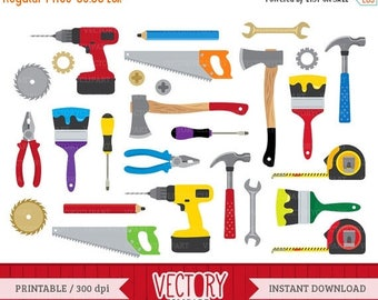 SALE 40%OFF Tools Clipart Set, Hardware Clipart, Construction Tools Clip Art set of 27 by VectoryClipart