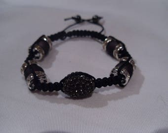 Bracelet silver and crystals