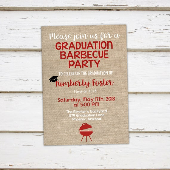 printable graduation party invitation class of 2018 highschool
