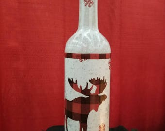 Plaid moose primitive Christmas