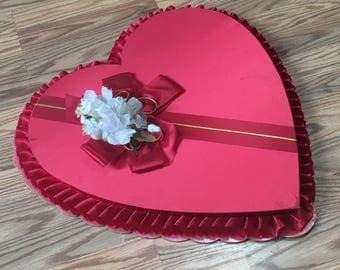 Vintage large Valentine Heart Candy Box