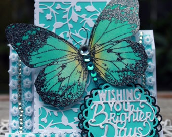 Wishing You Brighter Days, Encouragment Card, Friendship Card, Thinking of you!