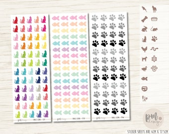 SMALL Pet/Animal Icon Stickers - Small Icons