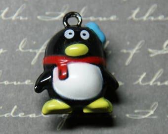 Bell charm / Bell Penguin 20x24mm