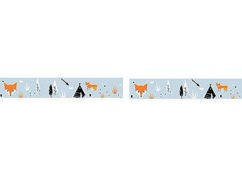 Masking tape foxes 1.5 cm-Nordic spirit, nature camping