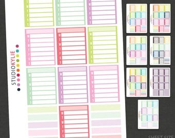 Sidebar Planner Stickers - Repositionable Matte Vinyl