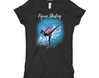 Youth Figure Skating It's Not Just A Sport, It's A Lifestyle Girl's T-Shirt
