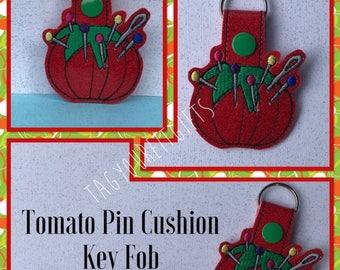 Tomato Pin Cushion Key Chain