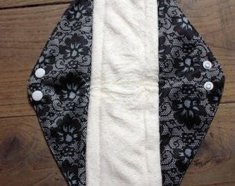 LARGE pad of night/postpartum/flow very important, standard, washable, organic bamboo and PUL