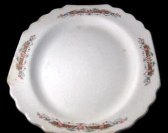 Vintage Lido W S George White Platter, China Platter, Home Decor, Vintage Serving, Vintage Platter, Collectible Platter, Primitive Platter