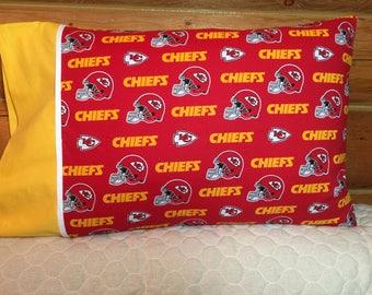 Kansas City Chiefs Standard Size Pillow Case