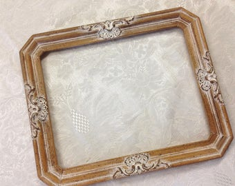 Rare French 8x10 Provincial Decorated Embellished Photo Picture Frame